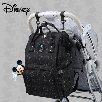 Disney Mickey USB Diaper Bag Stroller Mummy Backpack Baby Care Bags Large Maternity Nappy Bag Travel Hook Black Red Colorful New Bags Kids