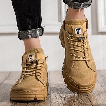 Zapatos de lona para sapato, botas de cuero deslizantes, botas informales negras...