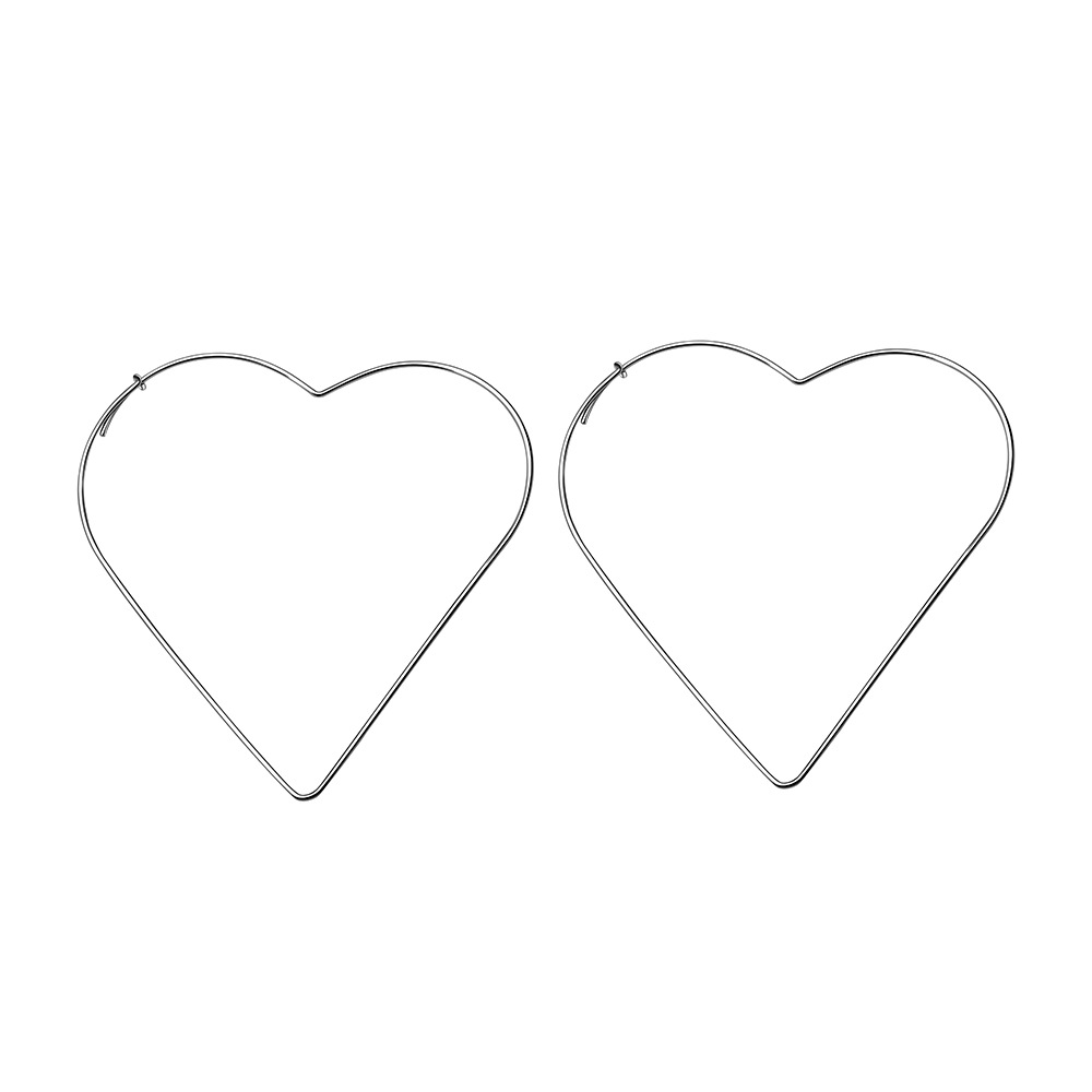 2020 Hot Selling Hollow Out Geometric Heart Shape Drop Earrings Simple Design Star Shape Dangle Earrings