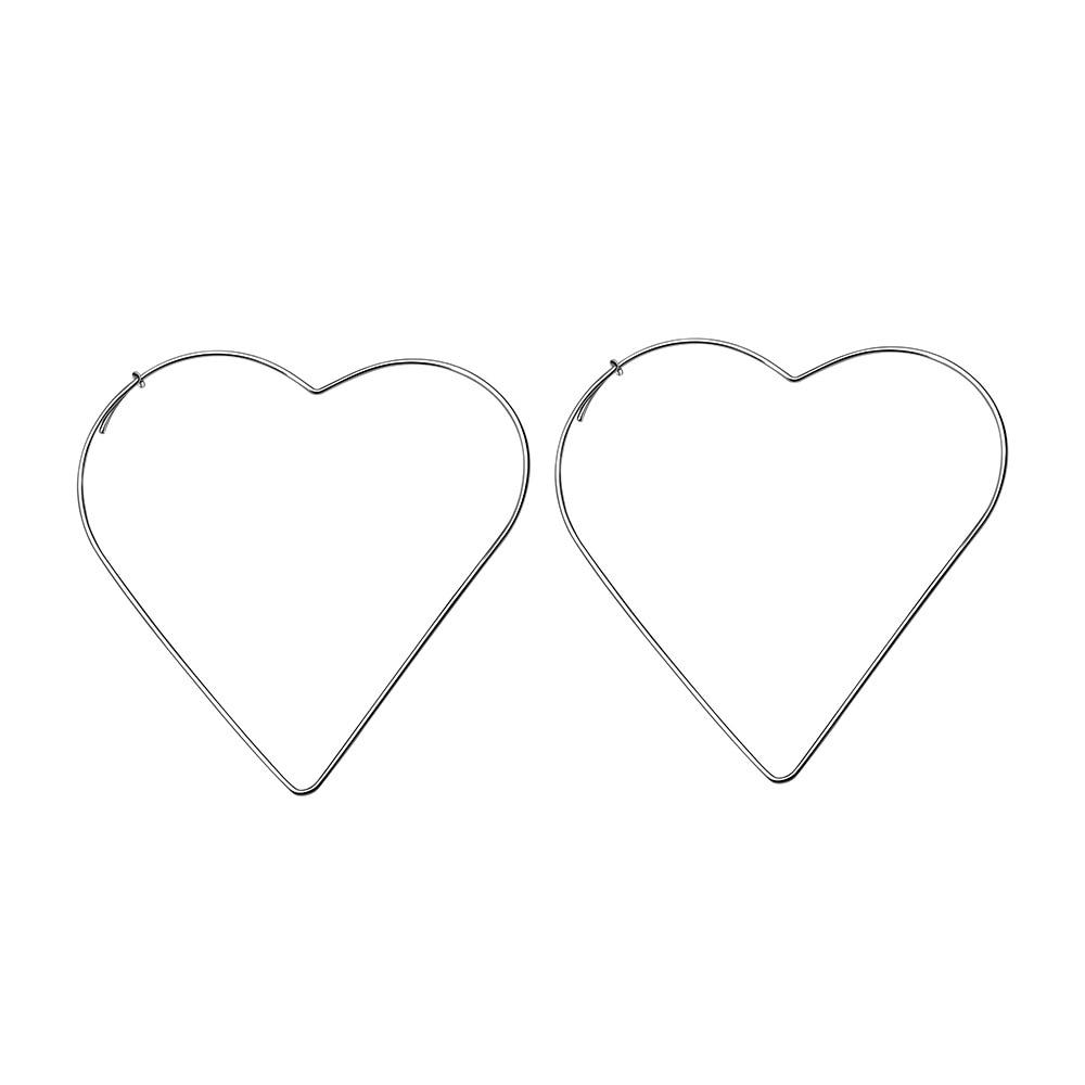 2020 Hot Selling Hollow Out Geometric Heart Shape Drop Earrings Simple Design Star Shape Dangle Earrings