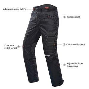 Image 3 - Pantaloni da Moto DUHAN pantaloni da Moto fuoristrada da Moto invernali a prova di freddo pantaloni protettivi da Moto con fodera in cotone