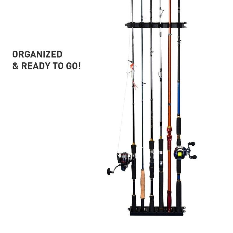 na parede vertical 6 hastes armazenamento suporte organizador para garagem 05