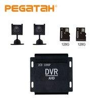 Mini enregistreur dvr de 4 pouces, avec ventilateur intégré 1080p, 2 canaux, CCTV DVR HD dvr, kit de vidéosurveillance, système de sécurité CVBS HDMI