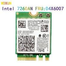 Intel 7260ngw 7260ac 7260 ac 2.4/5g bt4.0 fru 04x6007 parágrafo w540 thinkpad x230s x240s t440 x240 x250 t540 yoga y50 CARTÃO WI-FI