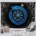 Viking мистический символ гобелен для домашнего декора психоделические сцена настенный богемный Декор ворона покрывало на диван