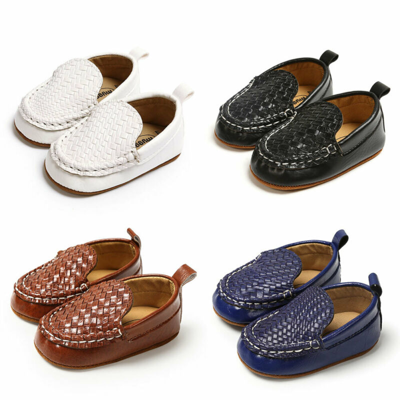 2020 Infant Kid Baby Boy Girl Shoes Casual Loafer Flat Shoe Casual Baby Walk Trainner PU Leather Boat Peas Shoes 0-18M