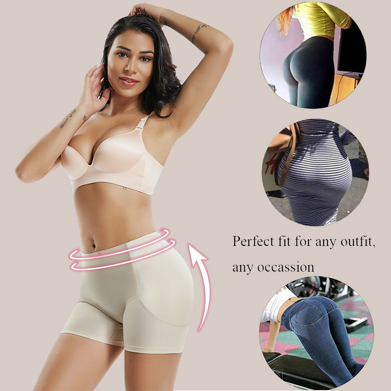 Image 4 - FAKE ASS High Waist Tummy Control Seamless Shapewear Hip Enhancer Booty Padded Butt Lifter Panty Boyshorts Shorts for Women-in Control Panties from Underwear & Sleepwears on AliExpress