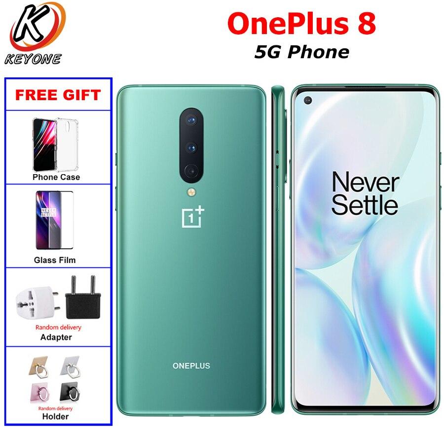 "NEW Listing OnePlus 8 5G Mobile Phone Dual SIM 8G/12G RAM 128/256GB Snapdragon865 6.55"" 48MP 4300mAh NFC Android10.0 Smart Phone"