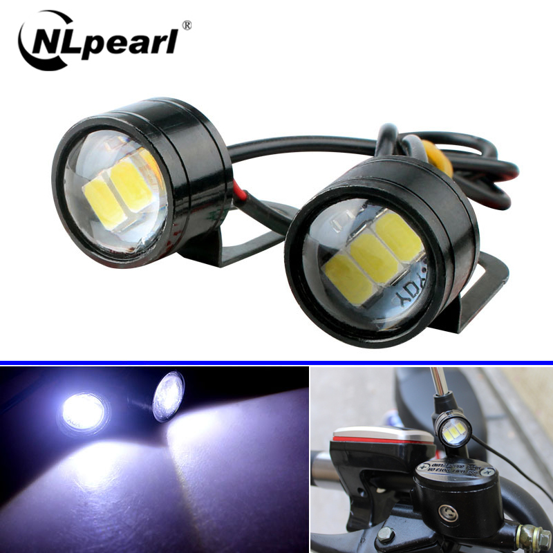 Nlpearl 2x Car Light Assembly Eagle Eye LED Reverse Backup Light Running Light Signal Bulb Fog Lamp DRL Daytime For Motorcycle
