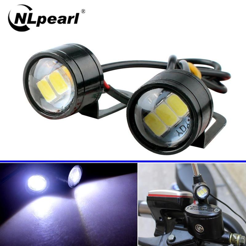 Nlpearl 2x Car Light Assembly Eagle Eye LED Reverse Backup Light Running Light Signal Bulb Fog Lamp DRL Daytime For Motorcycle