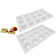 Chocolate Biscuit Mold Hazelnut Pudding Cake Silica Gel Mold French Dessert Mousse Mold swan silica gel mold 2pcs
