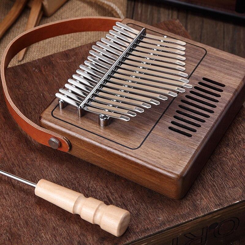 17 sleutel Creatieve Kalimba Piano effen Zwarte walnoot hout Kalimba Duim Piano Muziek Gift Student populaire Mooie - 5