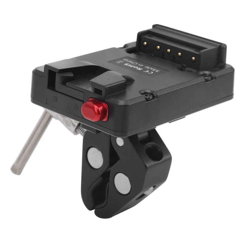 V-образное крепление для аккумулятора адаптер питания D-Tap выход с супер зажимом для V-образного крепления камеры аккумулятор фотооборудован...