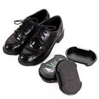 Губка с кремом для чистки обуви бесцветный обувной воск 1