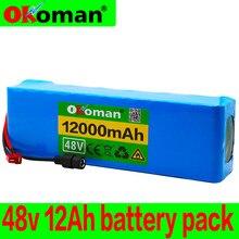 Batterie 13s3p 48 v 12ah, haute puissance 18650, pour moto, véhicule électrique, bricolage, Protection BMS 48 v