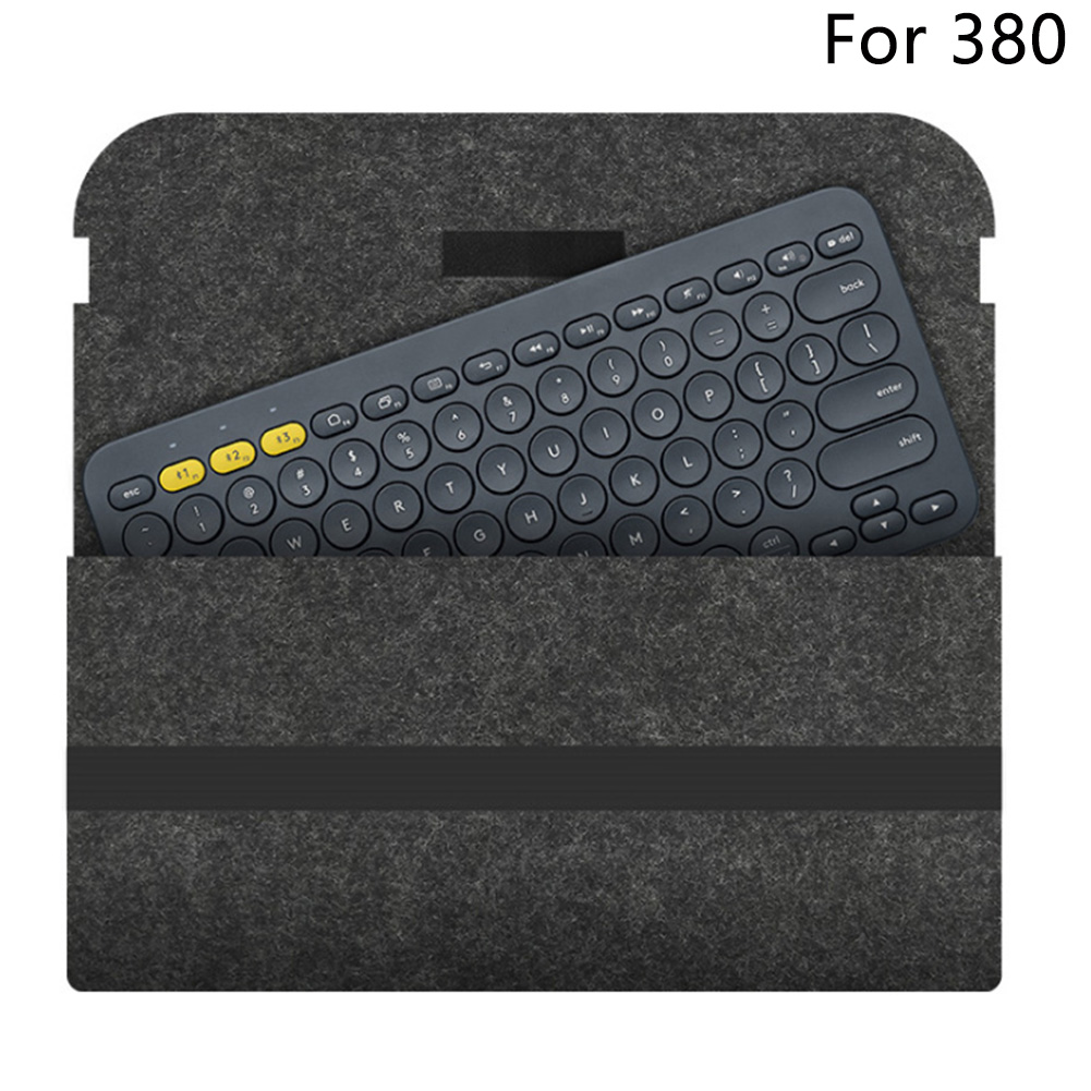 Flexible Accessories Felt Travel Keyboard Bag Storage Portable Carrying Case Protective Compact Cover For Logitech K480