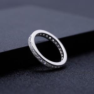 Image 4 - GEMS בלט 0.33Ct Luxe עתיק גלילה EF צבע Moissanite טבעת 925 סטרלינג כסף נישואים לתכשיטי נשים 2mm
