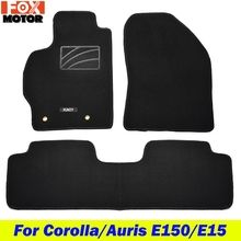 Mats Floor-Mat Rubber 2009 Toyota Corolla Custom Car 2008 for E140/150 Auto Nylon Backing-Liner