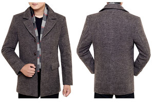 Image 4 - Mens Casual Trench Coat Fashion Business Long Thicken Slim Overcoat Jacket European size Dropshipping
