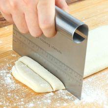Лопатки для теста из нержавеющей стали, резак со шкалой скребок для теста для пиццы, инструменты для украшения торта, инструменты для выпечки, кухонные аксессуары