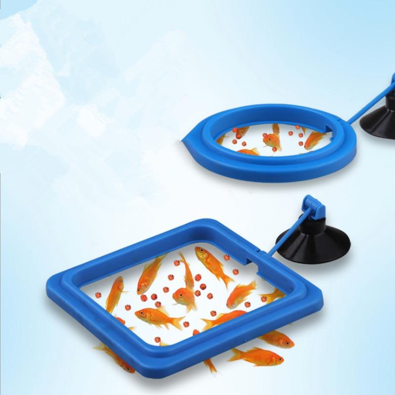 Feeding Ring Aquarium Fish Tank Station Floating Food Tary Feeder Black Blue