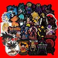 5 styles 100PCS new Anime Dragon Ball Stickers Super Saiyan Goku Decal For Snowboard Luggage Car Fridge Laptop Cool Sticker