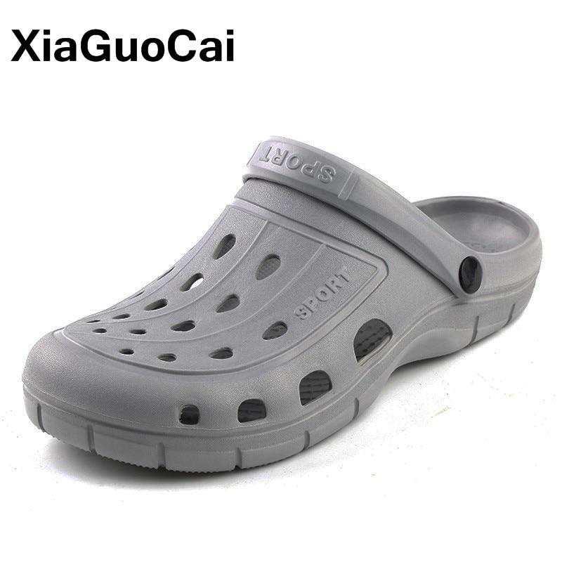 2019 Summer Men's Clogs Quick Dry Casual Home Slippers Male Garden Shoes Cheap Beach Sandals Mules Antiskid Bathroom Slipper