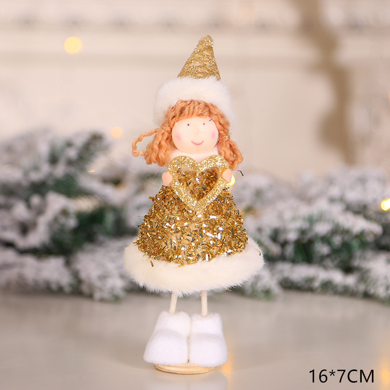 2020 New Year Gift Cute Christmas Angel Doll Xmas Tree Ornament Noel Deco Christmas Decoration for Home Natal Navidad 2019 Decor 39