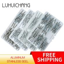 Juego de remaches de aluminio y acero inoxidable para decoración de uñas, remaches para muebles
