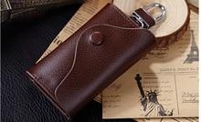 Retro Style Unisex Key Holder Genuine Leather Key Wallet Simple Fashion Card Holder Hasp Key Organizer Porta Chaves D981