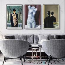 Художественные плакаты на холсте с изображением привлекательной