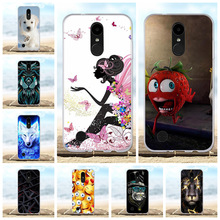 For LG K4 2017 Cover Ultra-thin Soft TPU Silicone M160 Phone Case Lion Patterned Phoenix 3 Fortune Coque Bag