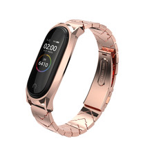 Xiaomi Mi Band 4 3 Strap Stainless Wristband(China)