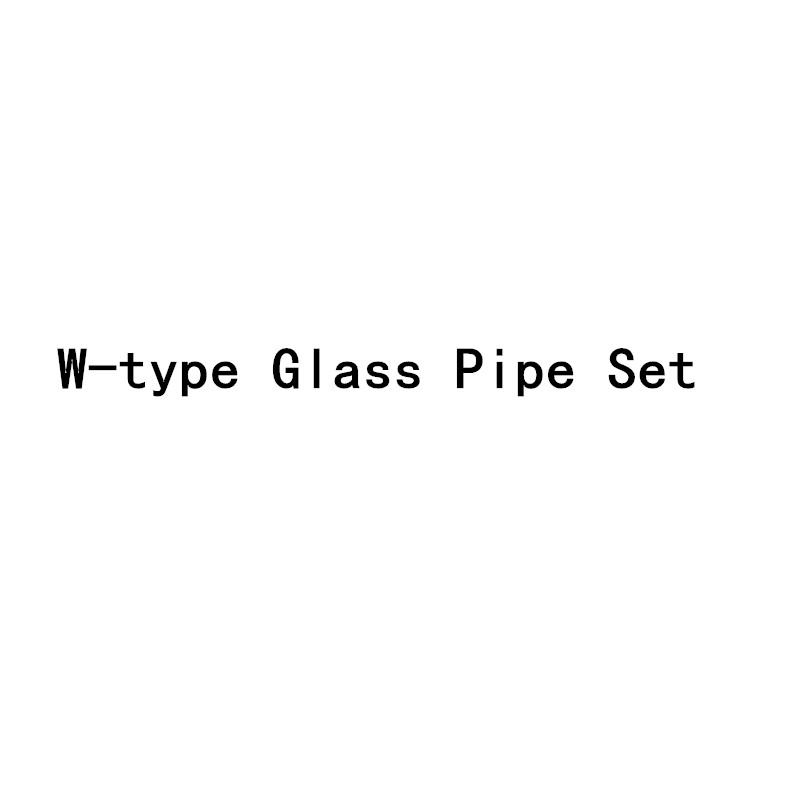 High Quality Multicolor W-type Glass Pipe Set Borosilicate Luminous Pipe Percolator Christmas Gifts