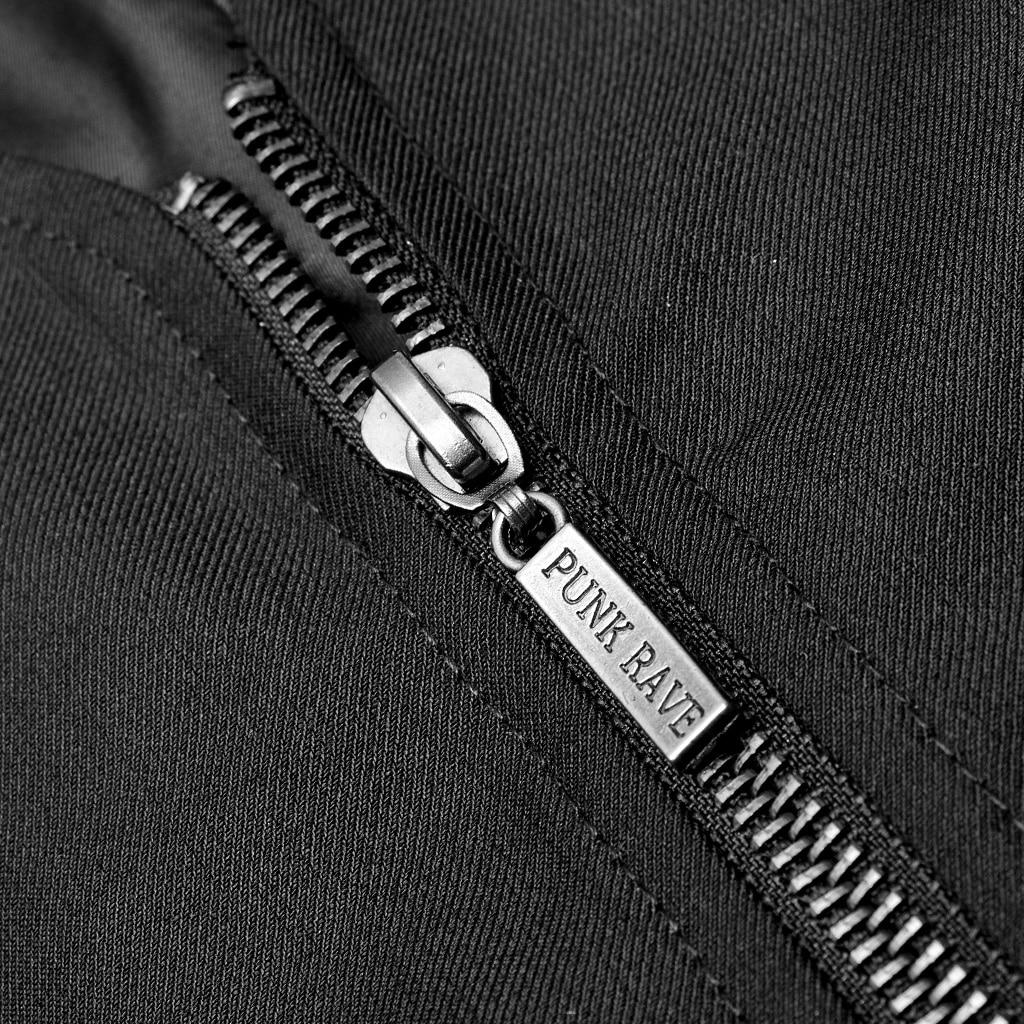 loop ajuste colete gótico listra vertical preto