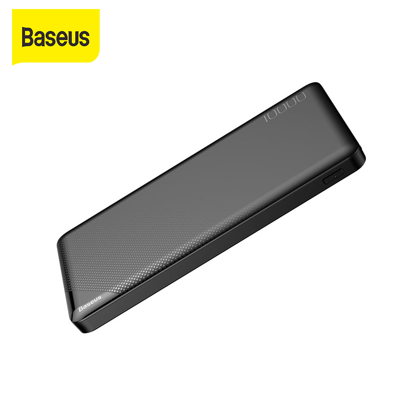 Baseus 10000mAh Powerbank Dual Usb External Battery Charger For iPhone Samsung Huawei Portable Charger Power bank|Power Bank| |  - title=