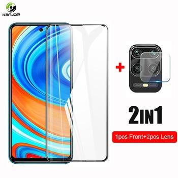 2in1 di Vetro Per Xiaomi Redmi Nota 9 S 9 S Temperato Dello Schermo di Vetro Pellicola Anteriore + Macchina Fotografica Len di Protezione In Vetro per la Nota Redmi 9 Pro di Vetro