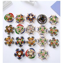 Three-tier Hand Spinner Fingertip Gyro Retro Alloy Finger Top Decompression Artifact Gift Kids Adults Finger Spinner Toys(China)