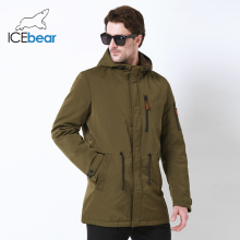 ICEbear 2019 Trench Coat For Men Hat Detachable Autumn Men New Casual Medium Long Brand Coats 17MC017D