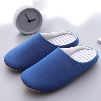 Solid Soft Bottom Home Slippers Cotton Warm Shoes Women Indoor Floor Slippers Non-slips Shoes For Be