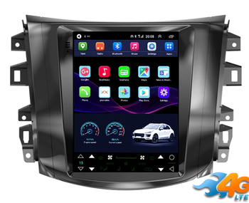 10.4 tesla style vertical screen Octa core Android 10 Car stereo GPS navigation for Nissan Navara Terra image