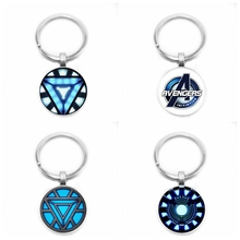 2019 New Avengers Iron Man Bent Reactor Keychain Classic Marvel Superhero Glass Bullet Declaring Key Chain