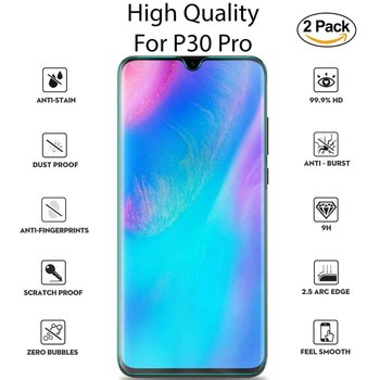 For Huawei P30 Pro Tempered Glass Screen Protector Full Protection Phone Protective Screen image