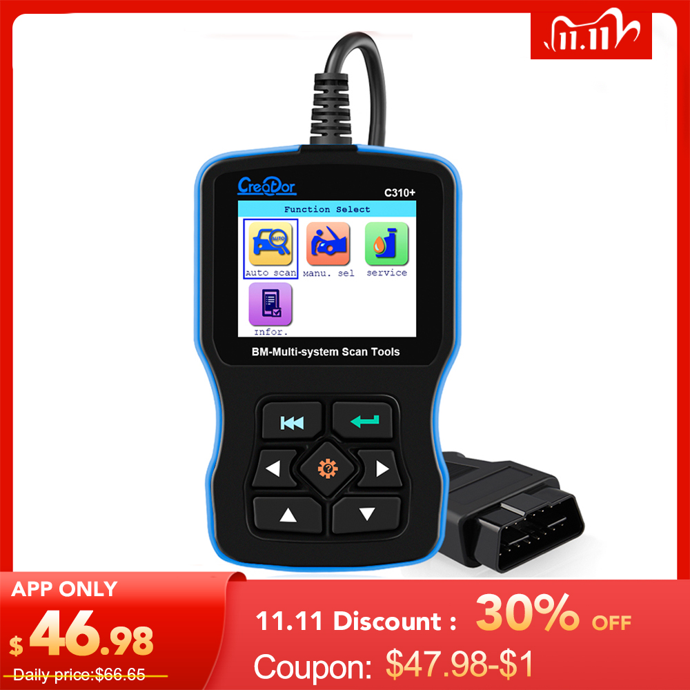 OBD2 Scanner for BMW Airbag  ABS  SRS e46 e90 e60 e39 All System Diagnostic Tool Creator C310  Pro Oil Service Reset Code Reader