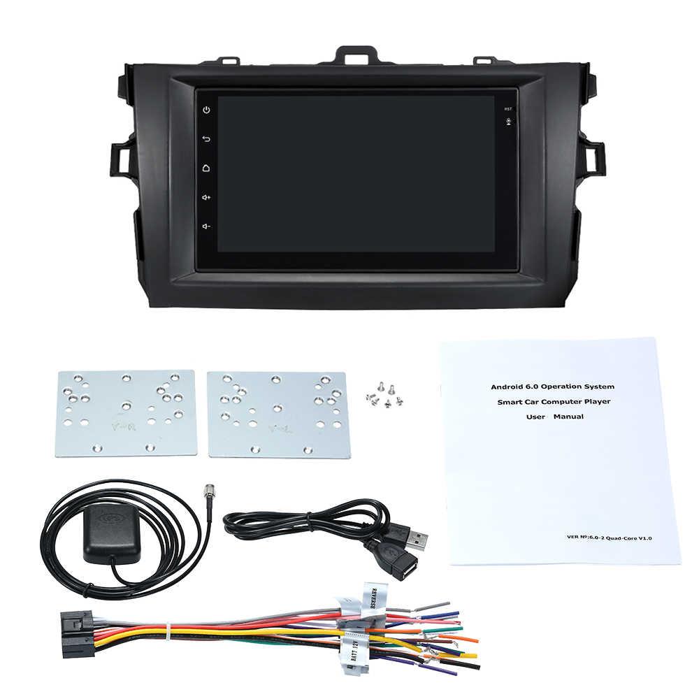 """Автомобильный радиоприемник 7 """"Сенсорный экран 2din android стереофонический радиоприемник зеркало заднего вида автомобильное радио с GPS навигацией для Защитные чехлы для сидений, сшитые специально для Toyota Corolla 2008-2010"""