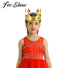 Baby Kids Royal King Crowns Queen Princess Tiara Jewelry Costume Accessories Child Prince Carnival Stage Dancewear Cosplay Props(China)