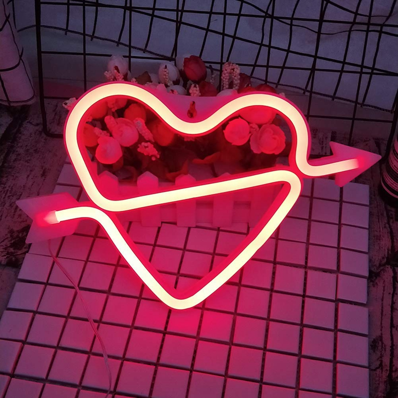 Happy Valentine/'s Day Pink Fused Glass Plug In Night Light SALE