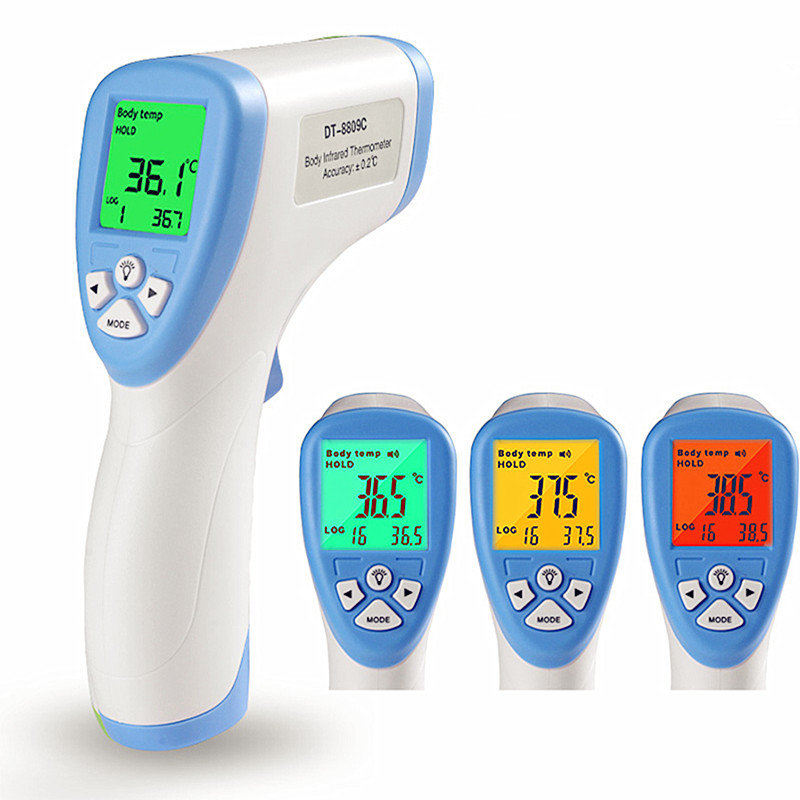 Drop Shipping Digital Thermometer Infrared Baby Adult Forehead Non-contact Infant Kids Infrared Thermometer With LCD Backlight