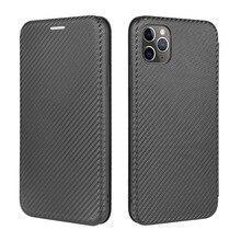 Carbon Fiber Patroon Case Voor Iphone 12 Pro Max Magnetische Flip Leather Case Voor Iphone 11 Pro Max X Xs max Xr Se 2020 8 7 6 Plus