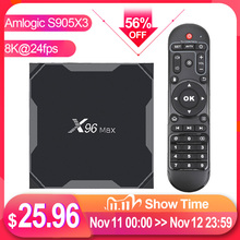 X96 Max plus – Smart TV Box avec Android 9.0, de 4 Go et 64 Go, décodeur à Wifi double bande et Bluetooth 1000 m, 8K, 24 fps, H.265, X96Max, Tvbox, Amlogic S905X3